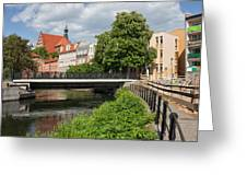 City Of Bydgoszcz In Poland Greeting Card