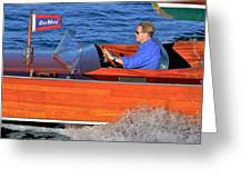 Classic Gar Wood Runabout Greeting Card