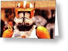 Clone Trooper Commander - Wax Style Greeting Card