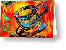 Coffee Cups Greeting Card