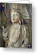 Colorful Indian Diety Figure Greeting Card