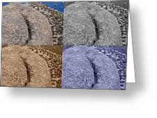4 Crack Rocks New Mexico Greeting Card