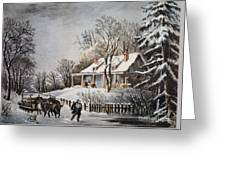 Currier & Ives: Winter Scene Greeting Card