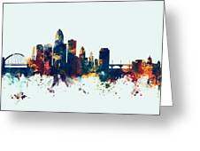 Des Moines Iowa Skyline Greeting Card