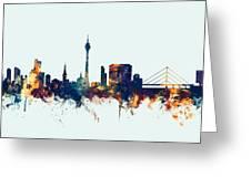Dusseldorf Germany Skyline Greeting Card