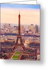 Eiffel Tower At Sunrise - Paris Greeting Card