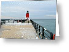End Of The Pier Greeting Card