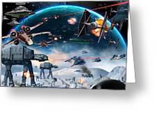 Episode 1 Star Wars Art Greeting Card