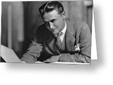 F. Scott Fitzgerald Greeting Card by Granger