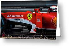 Ferrari Formula 1 Kimi Raikkonen Greeting Card