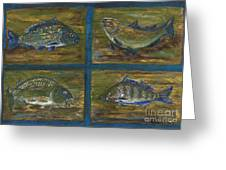 4 Fishes Greeting Card