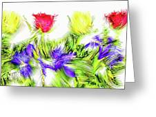Flower Frame Border Greeting Card