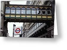 Footbridge In Central London Greeting Card