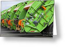 Garbage Truck Fleet Greeting Card by Don Mason