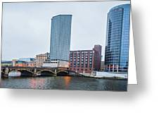 Grand Rapids Michigan City Skyline And Street Scenes Greeting Card