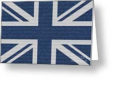 Great Britain Denim Flag Greeting Card