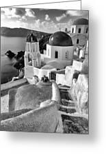 Greek Island - Santorini Greeting Card