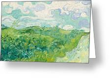 Green Wheat Fields, Auvers Greeting Card