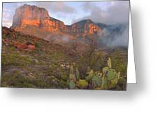 Guadalupe Mountains Sunrise Greeting Card