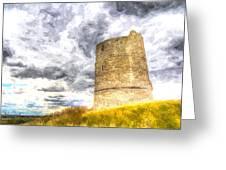 Hadleigh Castle Art Greeting Card