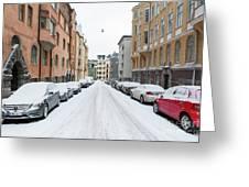 Helsinki At November Greeting Card