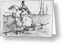 Horserider, C1840 Greeting Card