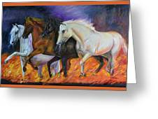 4 Horses Of The Apocalypse Greeting Card
