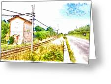 House On The Railway Greeting Card