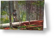 Hunter In The Adirondacks Greeting Card