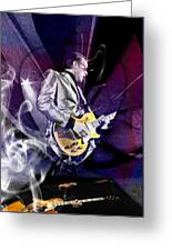 Joe Bonamassa Blues Guitarist Art Greeting Card