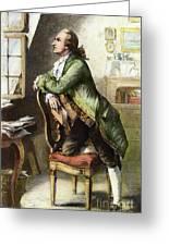 Johann Goethe, 1749-1832 Greeting Card
