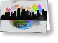 Kansas City Skyline Silhouette Greeting Card