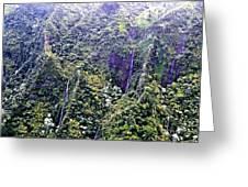 Kauai Water Fall Greeting Card