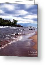Lake Superior Shoreline Greeting Card