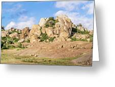 Landscape In Tanzania Greeting Card