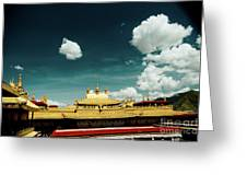 Lhasa Jokhang Temple Fragment Tibet Artmif.lv Greeting Card