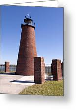 Lighthouse On Lake Toho At Kissimmee In Florida Greeting Card