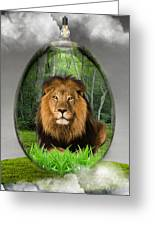 Lion Art Greeting Card