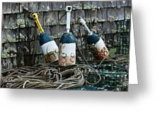 Lobster Buoys Greeting Card