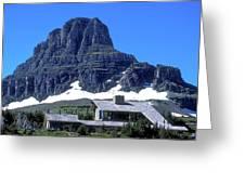Lodge In Glacier National Park Greeting Card