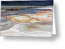 Mammoth Hot Springs Upper Terraces In Yellowstone National Park Greeting Card