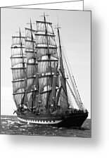 4-masted Schooner Greeting Card