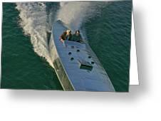 Mercury Race Boat Greeting Card