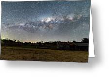 Milky Way Over A Farm Shed Greeting Card