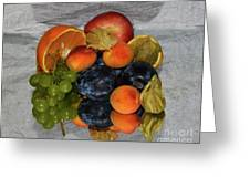 Multicolor Fruits Greeting Card