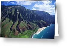 Na Pali Coast Aerial Greeting Card