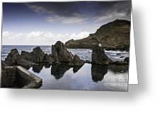Natural Pools In Porto Moniz, Madeira Greeting Card