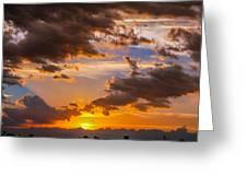 Nebraska Hp Supercell Sunset Greeting Card