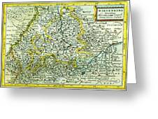 Old Map Greeting Card