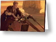 Original Star Wars Art Greeting Card
